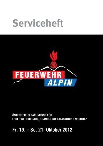 Serviceheft ÖSTERREICHS FACHMESSE FÜR - Feuerwehr Alpin