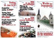 Woche Der Begegnung - Stadtpfarre Leoben - St. Xaver
