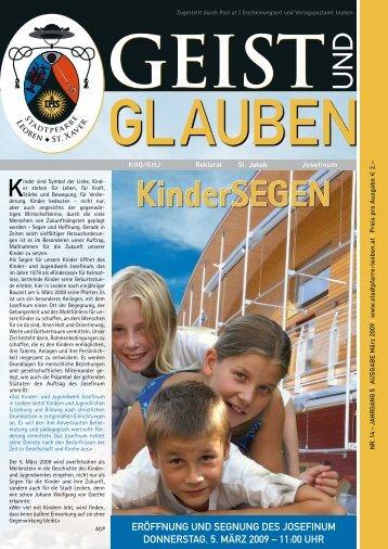 Kindersegen - Stadtpfarre Leoben - St. Xaver