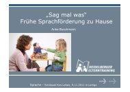 Frühe Sprachförderung Zuhause