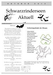 Ausgabe Oktober 2012 - an den Schwarzrinderseen
