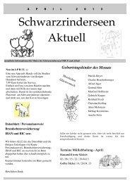 Ausgabe April 2013 - an den Schwarzrinderseen