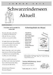 Ausgabe Januar 2013 - an den Schwarzrinderseen
