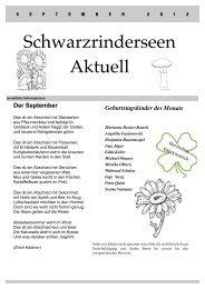 Ausgabe September 2012 - Schwarzrinderseen