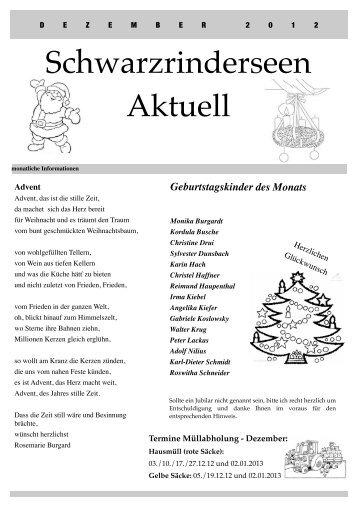 Ausgabe Dezember 2012 - an den Schwarzrinderseen