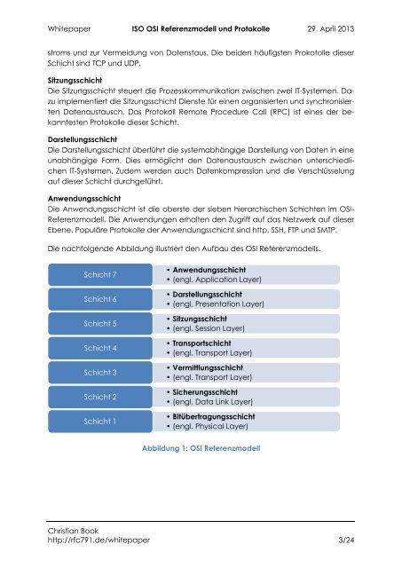 2013 – ISO OSI Referenzmodell und Protokolle - RFC 791