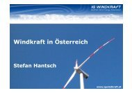 Windkraft in Österreich Stefan Hantsch - Zukunftsforum Österreich
