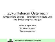 Association Européenne pour la BIOMasse - Zukunftsforum Österreich