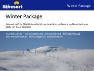 Winter Package (PDF-Dokument) - Skiresort Service International