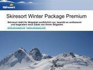 2. Umfassende Werbemaßnahmen für Ihre Skigebietsseite bei ...