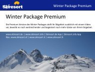 Winter Package Premium - Skiresort Service International