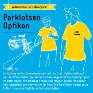 Parklotsen Flyer - Plattform Glattal