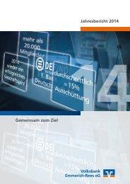 Jahresbericht 2014 Gemeinsam zum Ziel