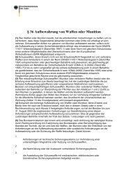 Waffengesetz WaffG § 36 - Faust-Tresor