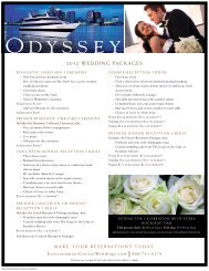 Weddings aboard the Odyssey - Entertainment Cruises