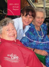 2011–2012 Annual Report - Anglican Care