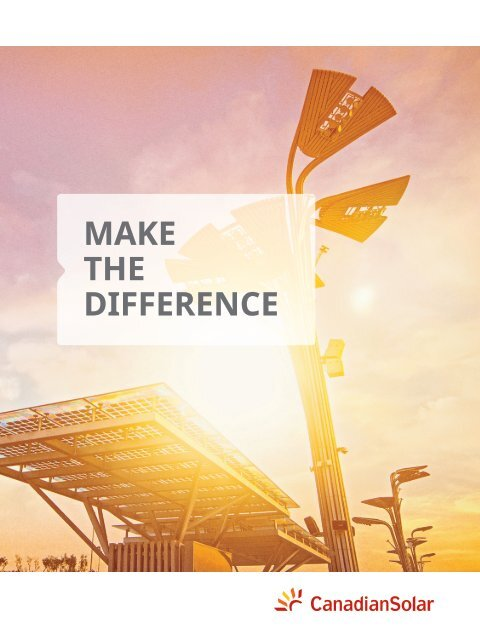 Canadian Solar - Make The Difference Magazine