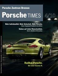 Der neue Cayman R. Radikal Porsche.
