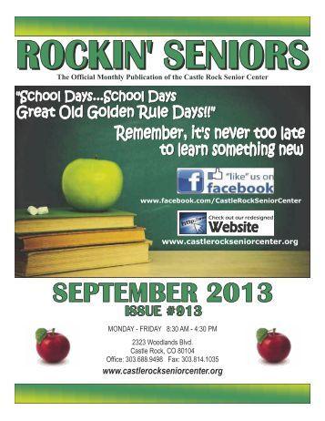 September Newsletter - Castle Rock Senior Center