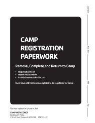 2013 Camp Registration Forms - YMCA Southcoast