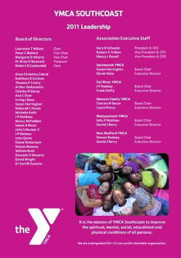 2011 Annual Report - YMCA Southcoast