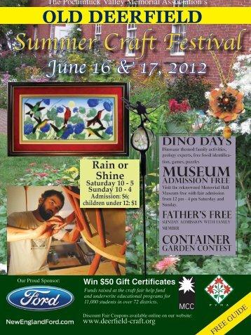Summer Craft Festival June 16 & 17, 2012 - Old Deerfield Craft Fairs