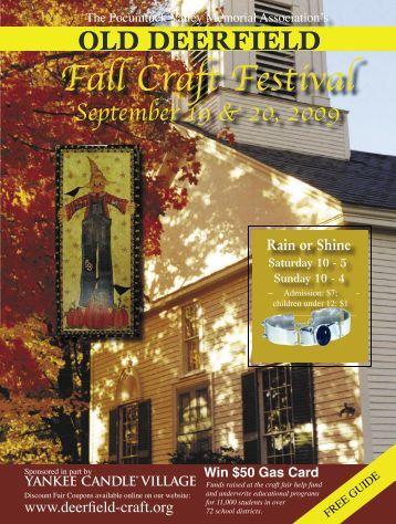 Fall Craft Festival - Old Deerfield Craft Fairs