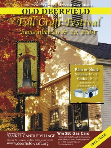 Fall Craft Festival - Old Deerfield Craft Fairs