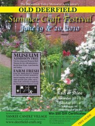 Summer Craft Festival - Old Deerfield Craft Fairs
