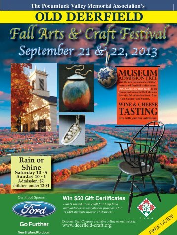 Download a Fall Program - Old Deerfield Craft Fairs
