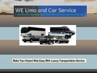 Make Your Airport Ride Easy With Luxury Transportation Service