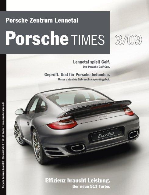 Das Porsche Zentrum Lennetal spielt Golf.