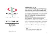 Essential Oils, Absolutes, Resins, Co-Distillations - Penny Price ...