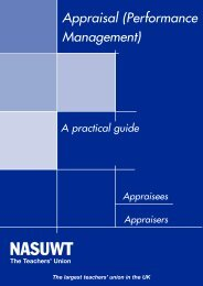 Performance management practical guide England - NASUWT
