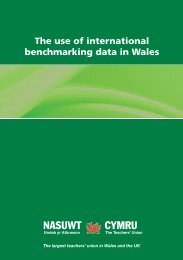 The use of international benchmarking data in Wales - NASUWT