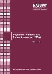 Guidance on PISA Northern Ireland - NASUWT