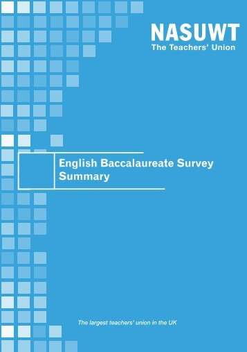 English Baccalaureate survey - NASUWT