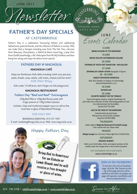 Father's Day specials - Casterbridge Lifestyle Centre
