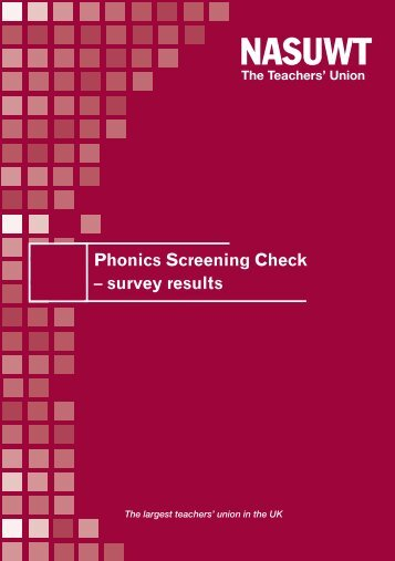 Phonics Screening Check - NASUWT