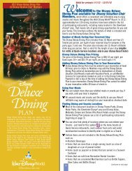 Deluxe Dining - Disney Vacation Club - ESPN