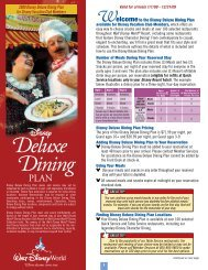 Deluxe Dining - Disney Vacation Club