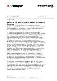 Presseinformation Ringier AG und Axel Springer AG bündeln ...