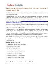 China Bone hammers Market Size, Share, Growth & Trend 2015 Radiant insights, Inc.pdf
