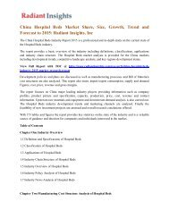 China Hospital Beds Market Share, Size, Growth, Trend and Forecast to 2015 Radiant Insights, Inc .pdf
