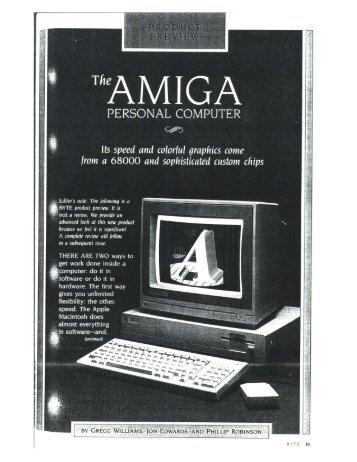 Amiga custom chipset article in Byte Magazine, 1985 - voltage control