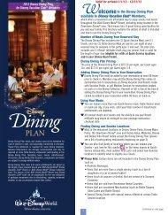 Disney Dining Plan in 2013 - Disney Vacation Club