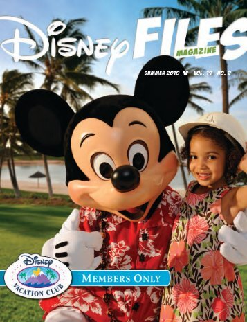 SUMMER 2010 vol. 19 no. 2 - Disney Vacation Club