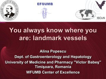 You always know where you are: landmark vessels