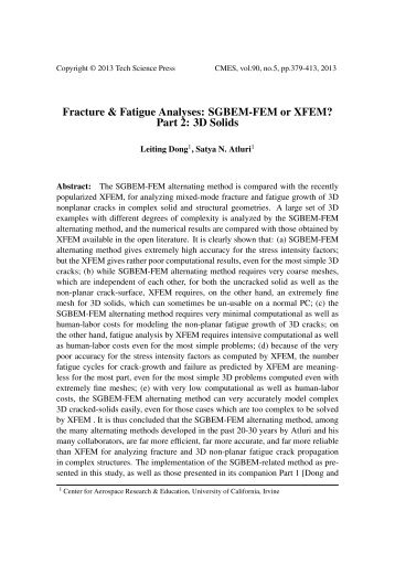 Phd thesis fatigue