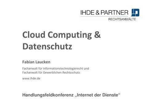 laucken_Cloud Computing und Datenschutz - Capital Cloud